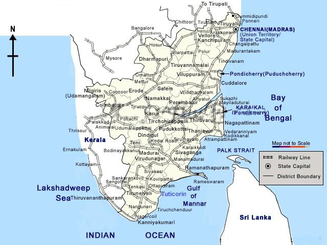 Tuticorin map